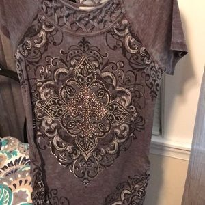 Maurices Cross bedazzled top